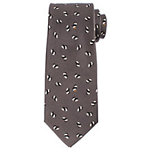 Buy John Lewis Panda Print Woven Silk Tie, Grey Online at johnlewis.com