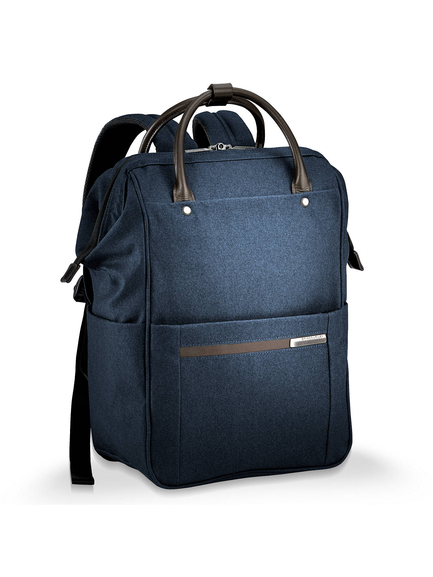891d9de0a Buy Briggs & Riley Kinzie Frame Wide-Mouth Backpack, Navy Online at  johnlewis.