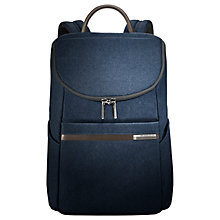 Buy Briggs & Riley Small Wide-Mouth Backpack, Blue Online at johnlewis.com