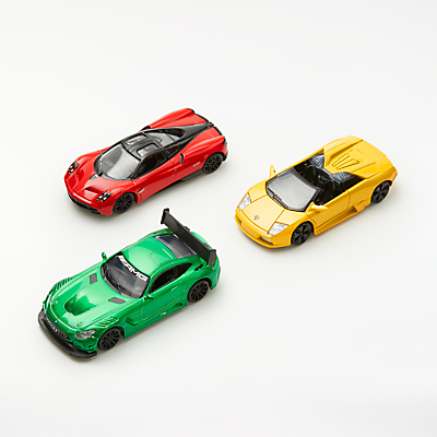Product photo of John lewis 1 43 performance sport diecast toy cars pack of 3