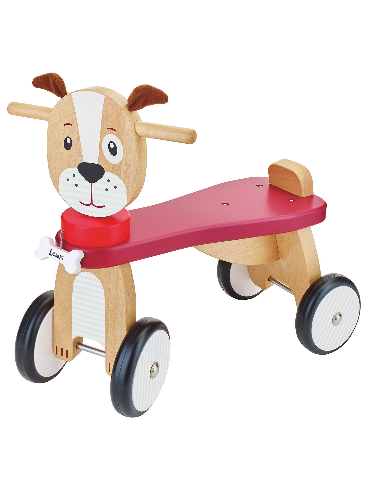 d80da352e6db Buy John Lewis   Partners Wooden Ride-On Dog Online at johnlewis. ...