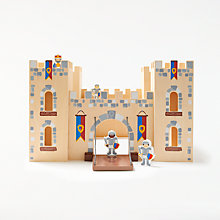 Buy John Lewis Wooden Castle with 4 Knights Online at johnlewis.com