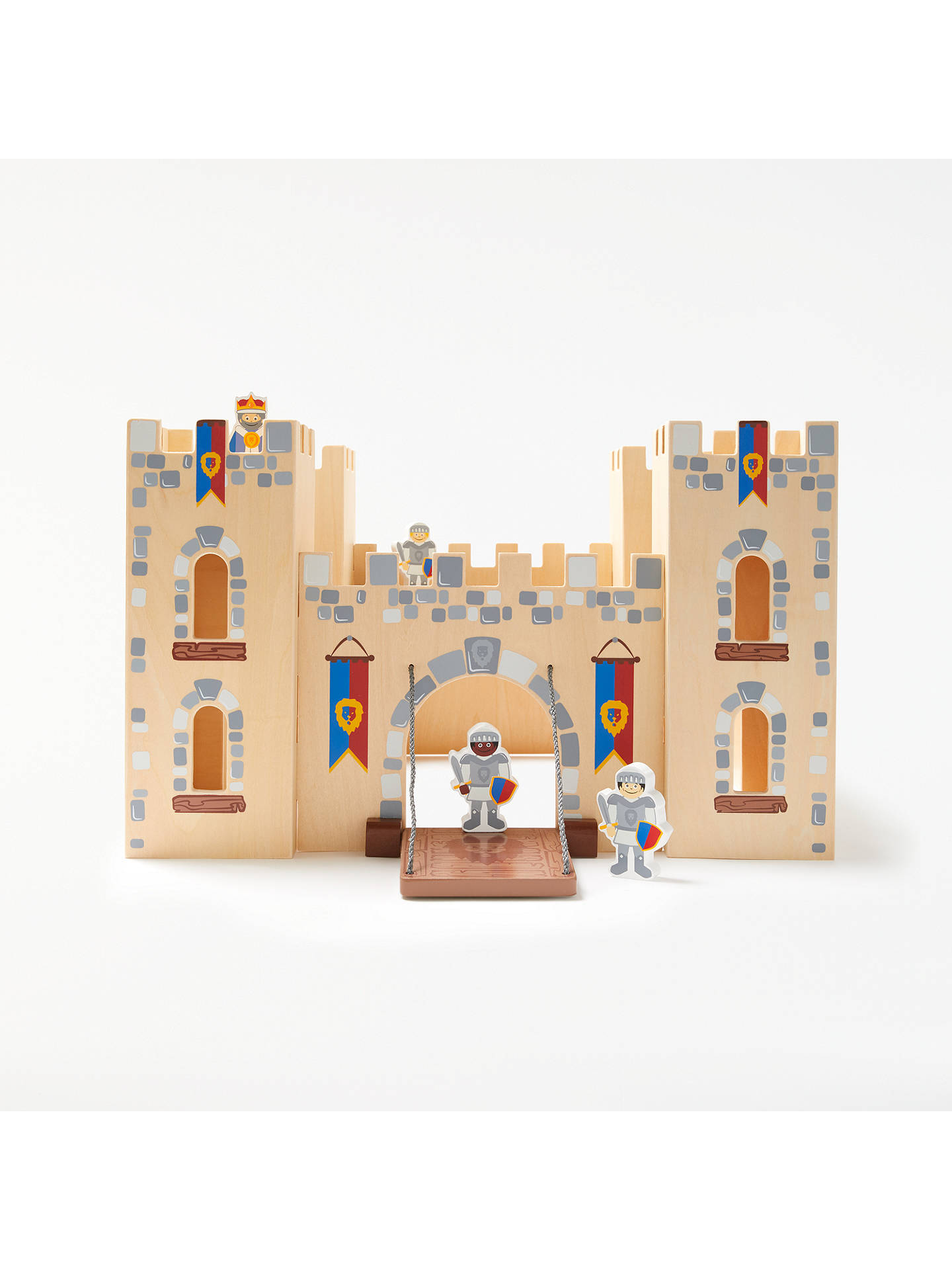 30f6c1dd1712 Buy John Lewis   Partners Wooden Castle with 4 Knights Online at johnlewis.  ...
