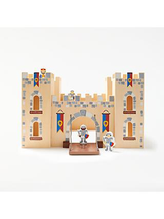 John Lewis & Partners Wooden Castle with 4 Knights