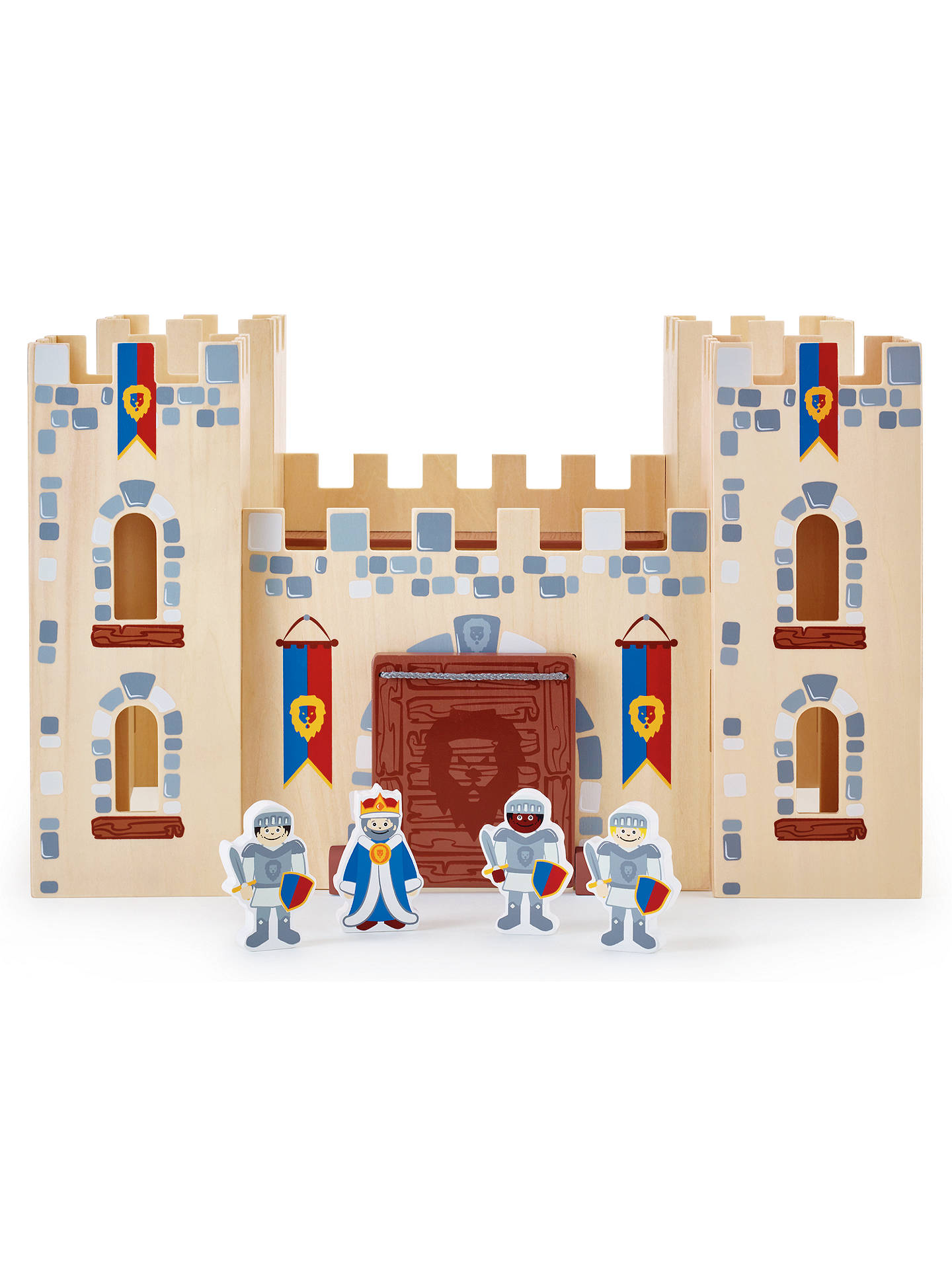 John Lewis Partners Wooden Castle With 4 Knights