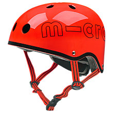 Buy Micro Scooter Safety Helmet, Glossy Red Online at johnlewis.com
