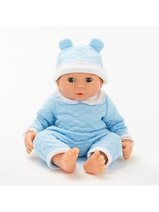 John Lewis & Partners Newborn Baby Doll, Blue