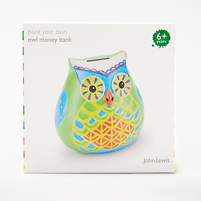 John Lewis Paint Your Own Owl Money Bank