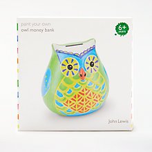 Buy John Lewis Paint Your Own Owl Money Bank Online at johnlewis.com