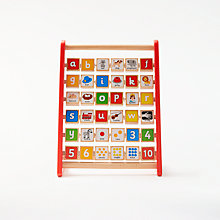 Buy John Lewis Wooden Alphabet Abacus Online at johnlewis.com