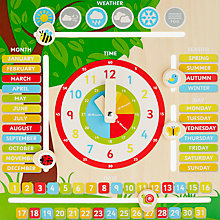 Buy John Lewis Wooden Teaching Seasonal Clock Online at johnlewis.com