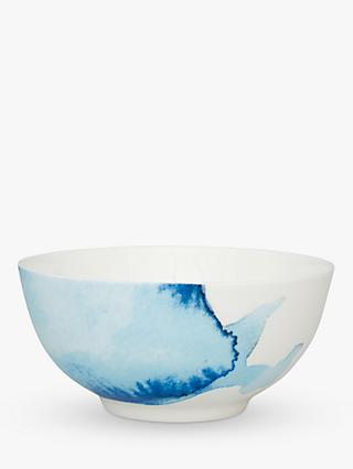 Rick Stein Coves of Cornwall Small Cereal Bowl, Set of 4, Blue/White, Dia.16cm