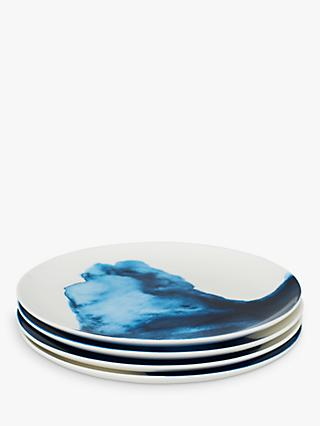 Rick Stein Coves of Cornwall Side Plates, Set of 4, Blue/White, Dia.21cm
