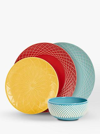 Leon Dinnerware Set 12 Pieces Multi