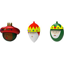 Buy Alessi 3 Kings 'Gaspare, Melchiorre & Baldassarre' Christmas Bauble, Multi Online at johnlewis.com