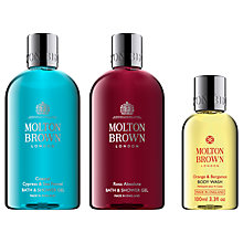 Buy Molton Brown Coastal Cypress & Sea Fennel and Rosa Absolute Bath & Shower Gel with Gift Online at johnlewis.com