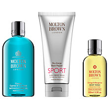 Buy Molton Brown Coastal Cypress & Sea Fennel Shower Gel and Re-Charge Black Pepper Sport Body Wash with Gift Online at johnlewis.com