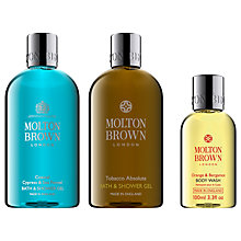 Buy Molton Brown Coastal Cypress & Sea Fennel Bath & Shower Gel and Tobacco Absolute Body Wash with Gift Online at johnlewis.com