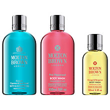 Buy Molton Brown Coastal Cypress & Sea Fennel Bath & Shower Gel and Pink Pepperpod Body Wash with Gift Online at johnlewis.com
