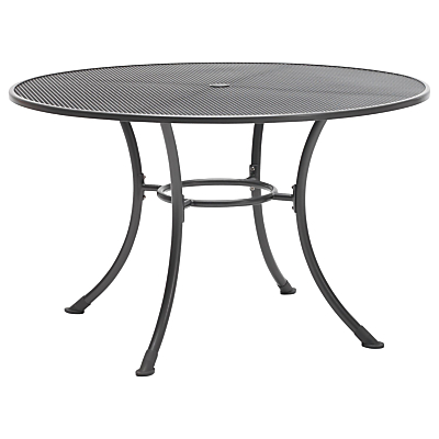 John Lewis Henley by KETTLER Round 6-Seater Outdoor Dining Table, Dia.135cm, Grey