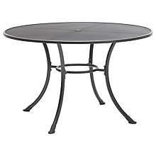 Buy John Lewis Henley by KETTLER Round 6-Seater Outdoor Dining Table, Dia.135cm, Grey Online at johnlewis.com
