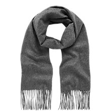 Buy Mulberry Cashmere Fringe Scarf, Marl Grey Online at johnlewis.com