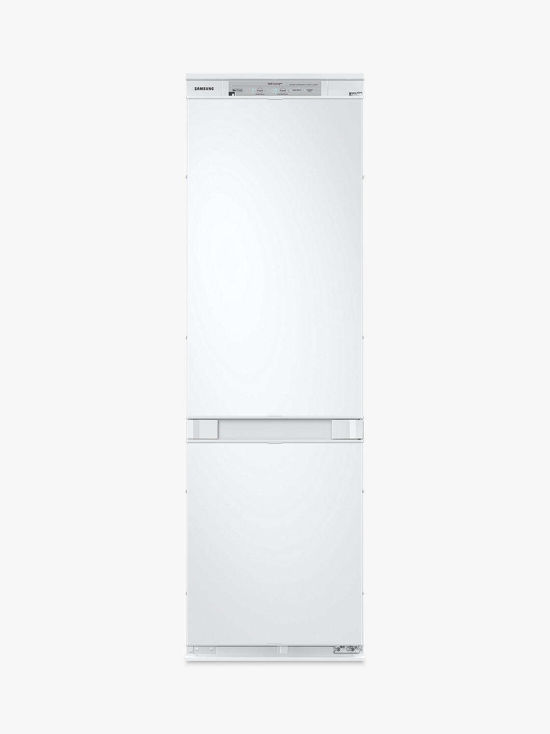Buy Samsung BRB260087WW Integrated 70/30 Fridge Freezer, Sliding Door Hinge, A++ Energy Rating, 54cm Wide, White Gloss Online at johnlewis.com