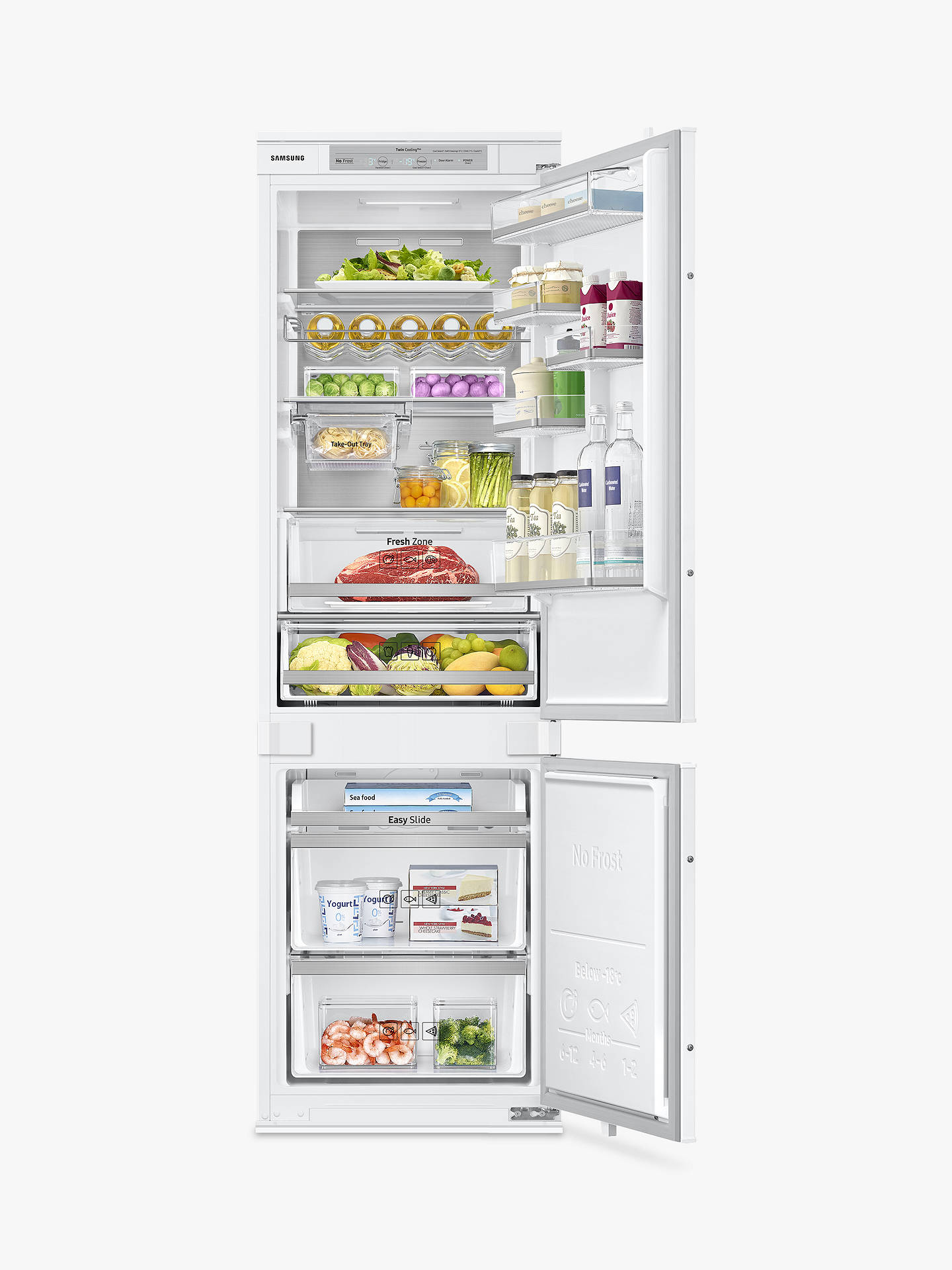 BuySamsung BRB260087WW/EU Integrated Fridge Freezer, A++ Energy Rating, 54cm Wide, White Gloss Online at johnlewis.com