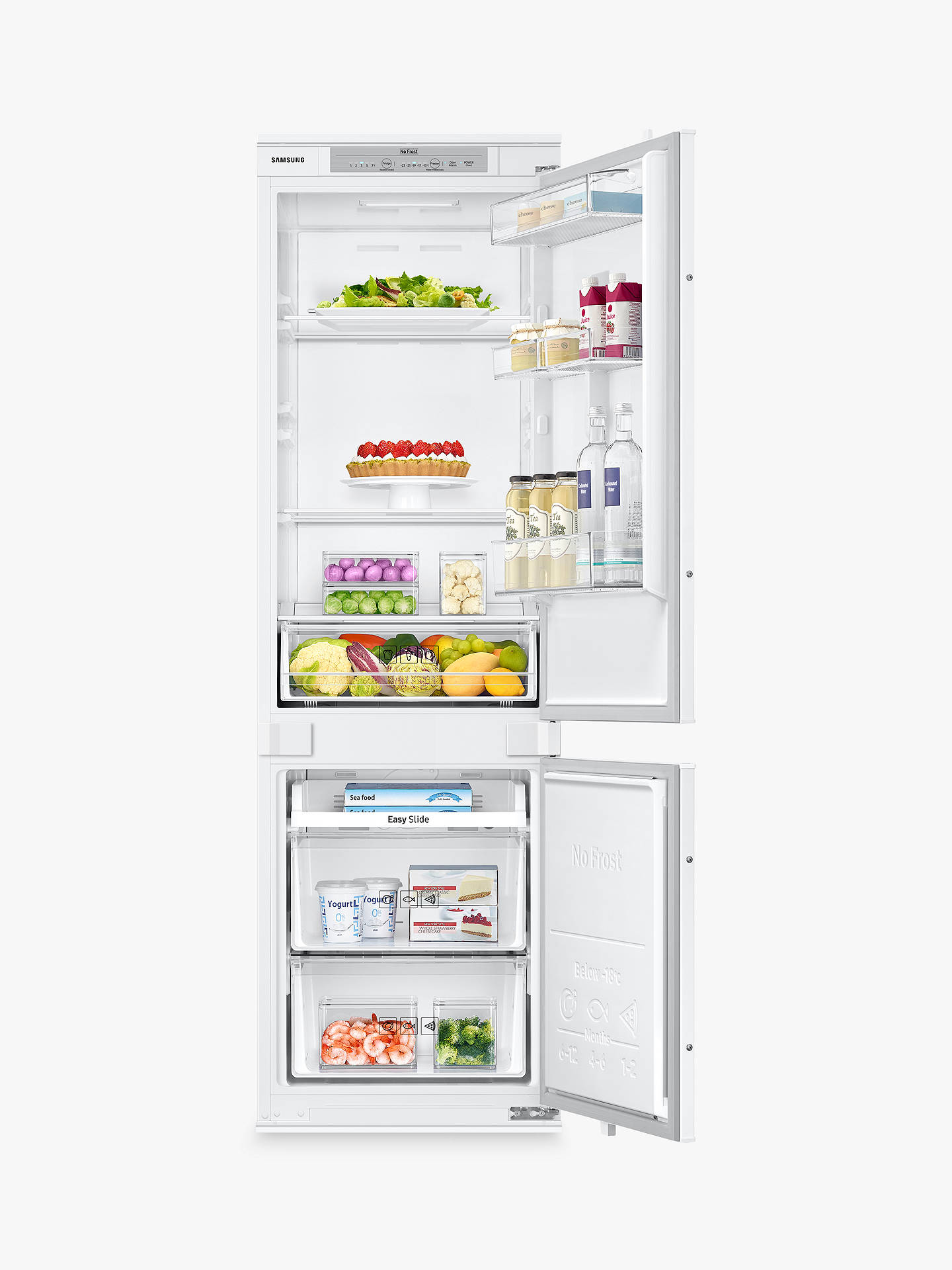 Buy Samsung BRB260000WW Integrated 70/30 Fridge Freezer, Sliding Door Hinge, A+ Energy Rating, 54cm Wide, White Gloss Online at johnlewis.com