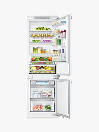 Samsung BRB260130WW Integrated 70/30 Fridge Freezer, Fixed Door Hinge, A+ Energy Rating, 54cm Wide, White Gloss