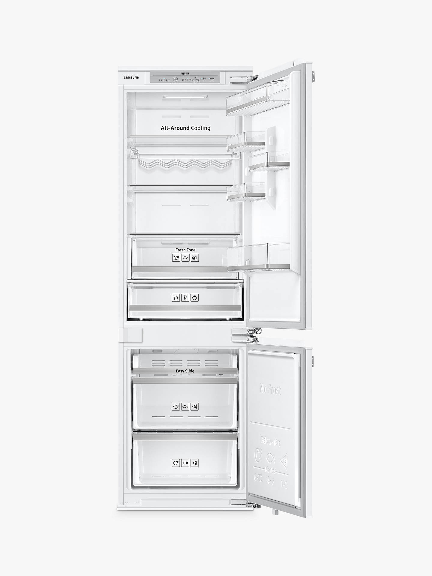 BuySamsung BRB260130WW/EU Integrated Fridge Freezer, A+ Energy Rating, 54cm Wide, White Gloss Online at johnlewis.com