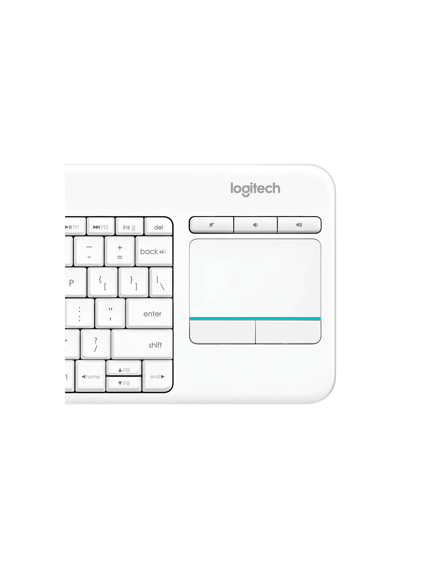 Logitech Wireless Touch K400 Plus Keyboard at John Lewis