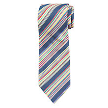 Buy Paul Smith Diagonal Stripe Silk Tie, Navy Online at johnlewis.com