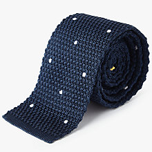 Buy Paul Smith Embroidered Dot Knit Silk Tie Online at johnlewis.com