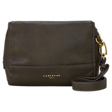 Buy Liebeskind Syracuse Milano Leather Shoulder Bag, Olive Green Online at johnlewis.com