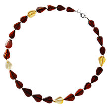 Buy Goldmajor Sterling Silver Amber Teardrop Necklace, Multi Online at johnlewis.com