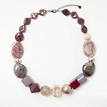Buy One Button Bead Necklace, Multi Online at johnlewis.com