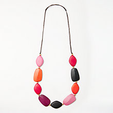 Buy One Button Long Wood Necklace, Black/Multi Online at johnlewis.com