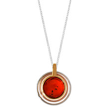 Buy Goldmajor Sterling Silver Baltic Amber Circle Necklace, Cognac Online at johnlewis.com