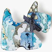 Buy One Button Cotty Dog Brooch, Blue Online at johnlewis.com