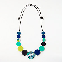 Buy One Button Circular Cord Necklace, Black/Multi Online at johnlewis.com