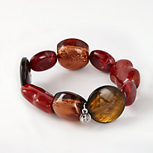 Buy One Button Chunky Bead Bracelet, Burnt Orange Online at johnlewis.com