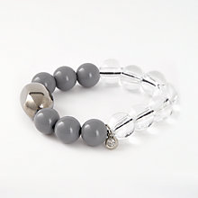Buy One Button Bead Bracelet, Clear/Multi Online at johnlewis.com