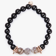 Buy Lola Rose Agnes Agate Beaded Bracelet, Black/Coffee Online at johnlewis.com