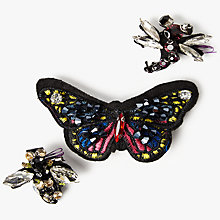 Buy One Button Butterfly Bee and Dragonfly Brooch, Set of 3, Multi Online at johnlewis.com