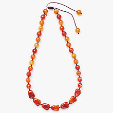 Buy Lola Rose Agate Necklace, Orange/Gold Online at johnlewis.com