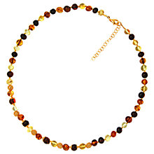 Buy Goldmajor Gold Plated Amber Bead Necklace, Multi Online at johnlewis.com