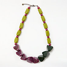 Buy One Button Chunky Necklace, Green/Purple Online at johnlewis.com