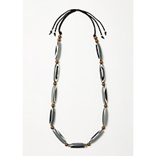 Buy One Button Long Beaded Necklace, Multi Online at johnlewis.com