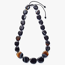 Buy Lola Rose Quentin Striped Agate Necklace, Black/Coffee Online at johnlewis.com
